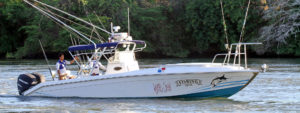 One of our fishing boat rentals in Panama