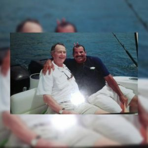Captain Chichi Out Fishing With Former President George W Bush