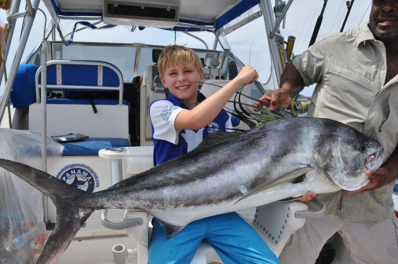 panama with kid fishing trip