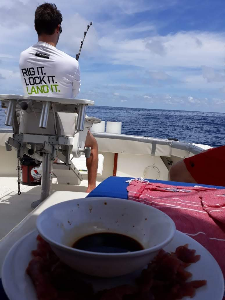 panama fishing off the back of the boat