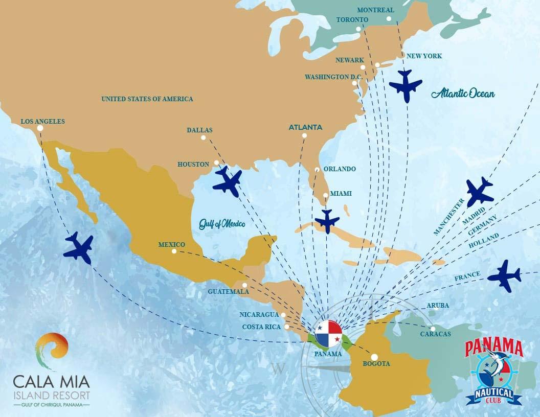 Anreise nach Panama und zur Island Lodge zum Sportfischen