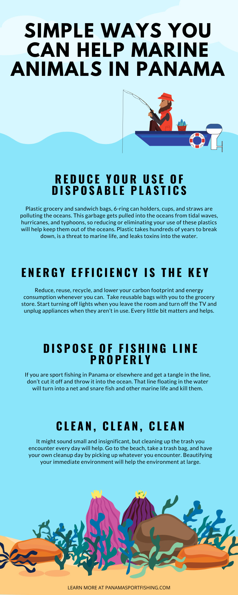 Simple Ways You Can Help Marine Animals in Panama infographic